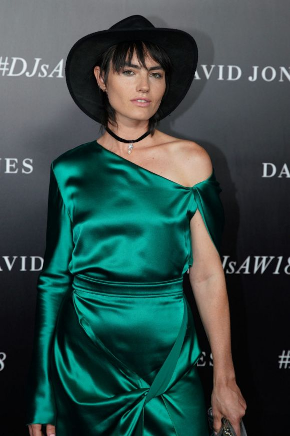 Isabella Manfredi at the red carpet for the 2018 David Jones Autumn Winter collection launch.