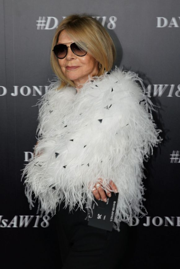 Carla Zampatti  arrives at the red carpet for the 2018 David Jones Autumn Winter collection launch.