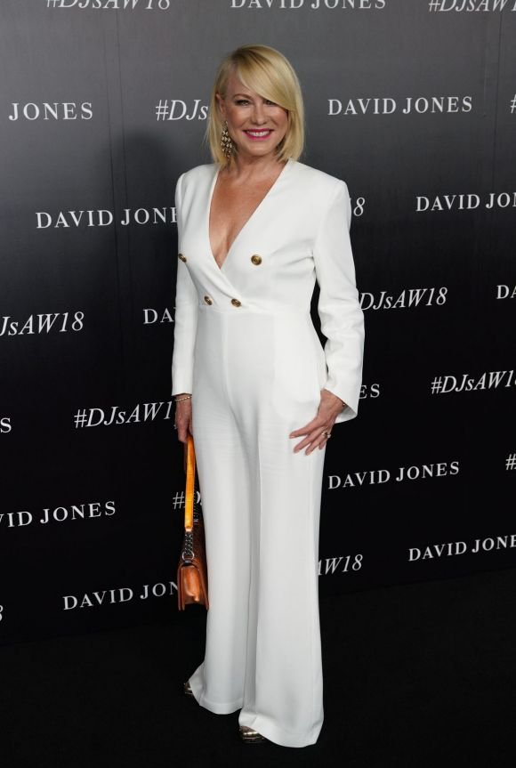 Kerri-Anne Kennerley arrives at the red carpet for the 2018 David Jones Autumn Winter collection launch.