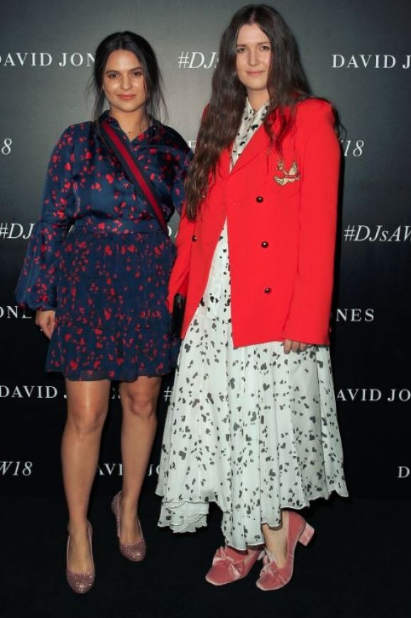 Tess Macgraw and Beth Macgraw arrive ahead of the David Jones Autumn Winter 2018 Collections Launch.