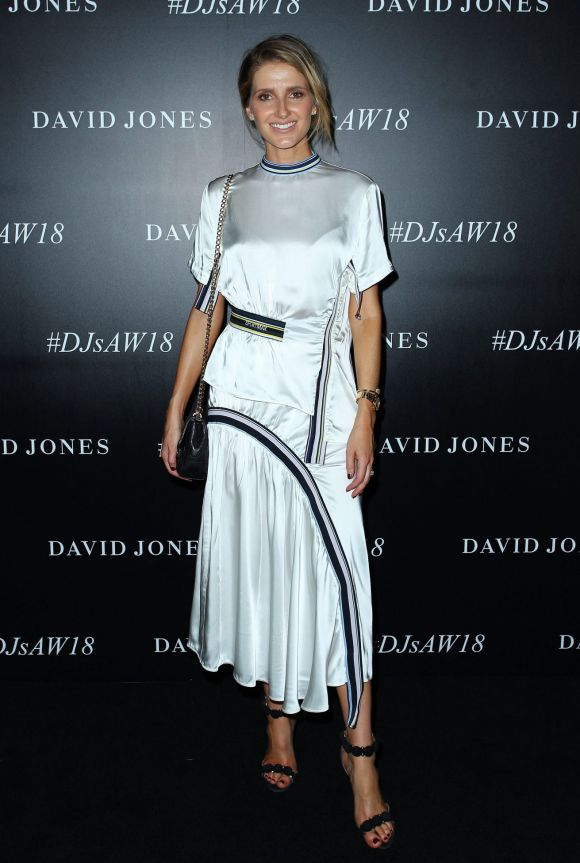 Kate Waterhouse arrives ahead of the David Jones Autumn Winter 2018 Collections Launch.