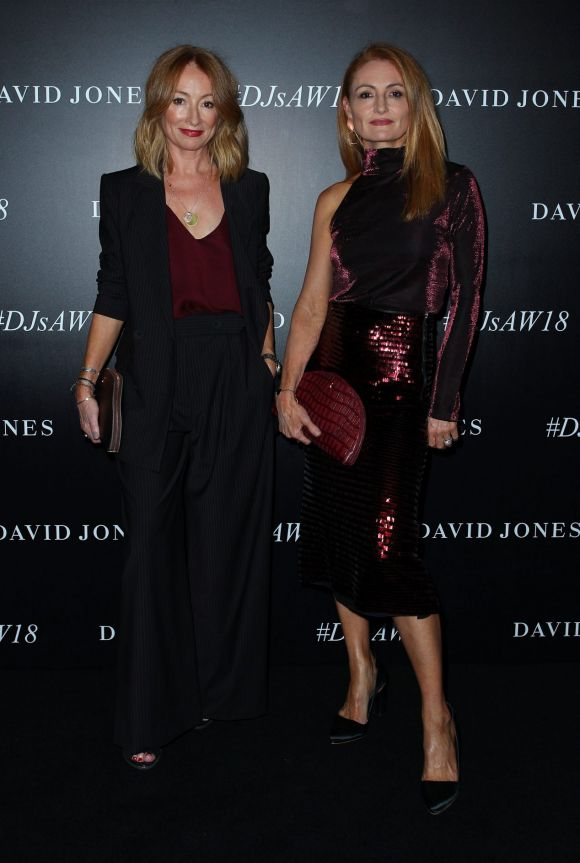 Alexandra Smart and Genevieve Smart of Ginger and Smart arrive ahead of the David Jones Autumn Winter 2018 Collections ...