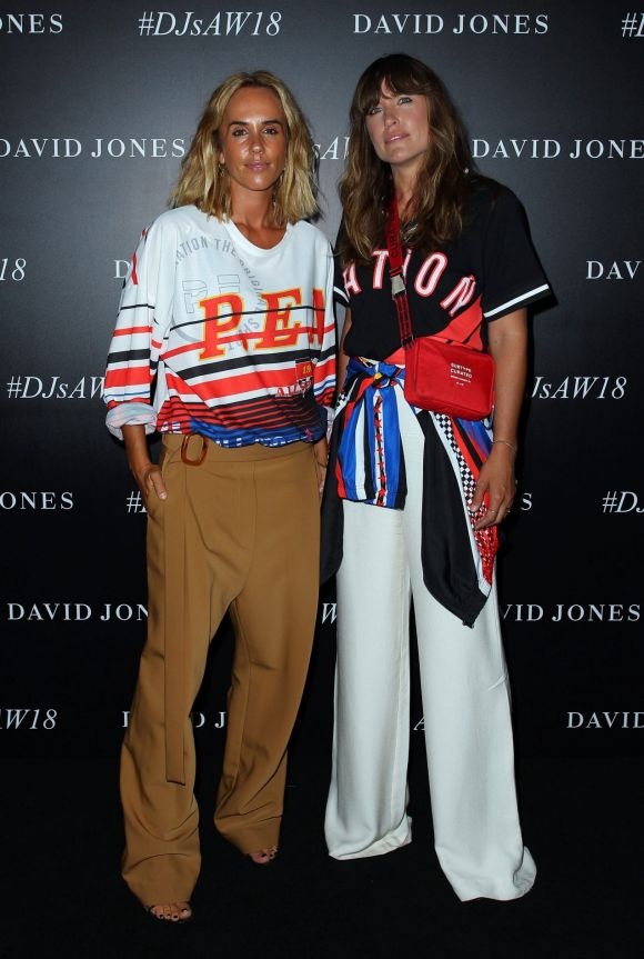 P.E. Nation's Pip Edwards and Claire Tregoning arrive ahead of the David Jones Autumn Winter 2018 Collections Launch.