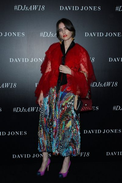 Romance Was Born's Anna Plunkett arrives ahead of the David Jones Autumn Winter 2018 Collections Launch.