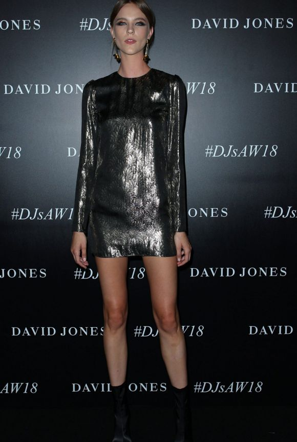 Nicole Pollard arrives ahead of the David Jones Autumn Winter 2018 Collections Launch.