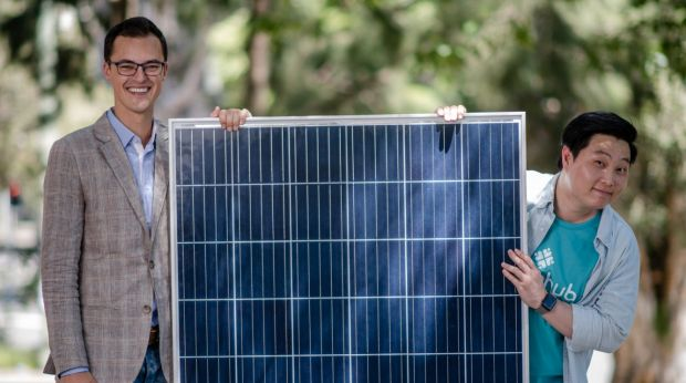 Co-founders of solar brokerage ShineHub, Alex Georgiou and Jin Woo Kim, are working on changing how solar is delivered ...