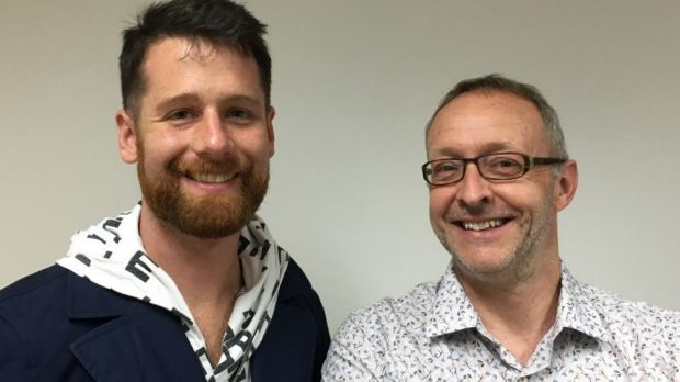 Andrew Batt-Rawden, left, and Limelight editor-at-large Clive Paget.