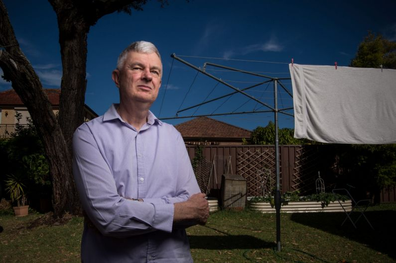 Portrait of Neil Ormerod at his Kingsgrove home. He is an academic at Australian Catholic University. He decided to stop ...