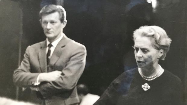 Peter Brown working with Ninette de Valois, founding director of the Royal Ballet, in 1965.
