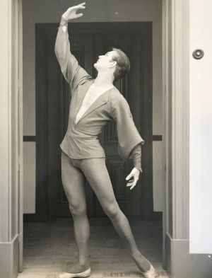 Peter Brown, better known as Peter Brownlee, in his dancing days before 1960.