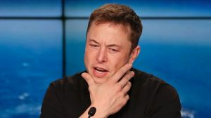 """Elon Musk conceded that the value of Tesla, of which he owns about 22 per cent, was """"higher than we have the right to ..."""