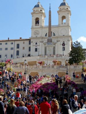 The Spanish Steps, an always busy tourist favourite.