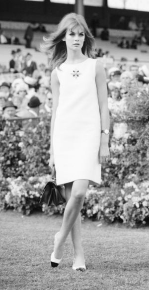 Breaking the rules: English model Jean Shrimpton at Flemington in 1965.