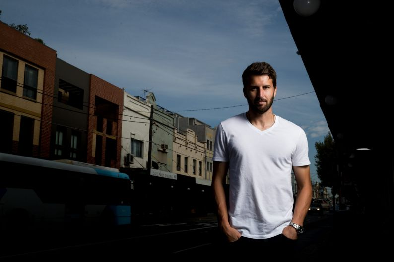 Antony Golec has played football in Moldova and Iran, but is back in Sydney, living in Newtown.