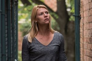 Claire Danes as Carrie Mathison in season seven of Homeland.