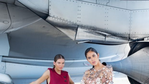 Models Emma and Alejandra wearing designs from the latest collection by Ginger and Smart, which is launching its first ...