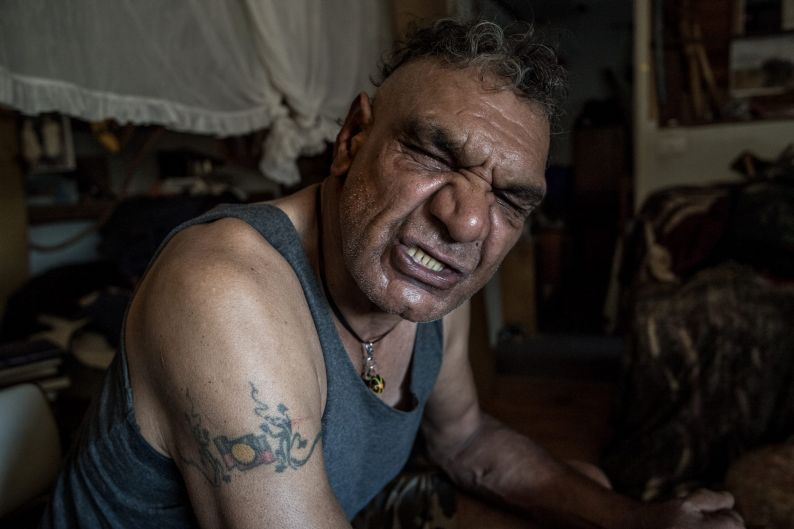 Dave Edwards in his home on the old Aboriginal Mission in Balranald on February 2, 2018.