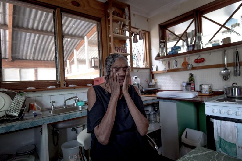 Maria Edwards in her home on the old Aboriginal Mission in Balranald on February 2, 2018.