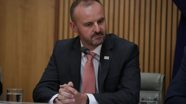 ACT Chief Minister Andrew Barr addresses the media during a joint press conference after the Council of Australian ...
