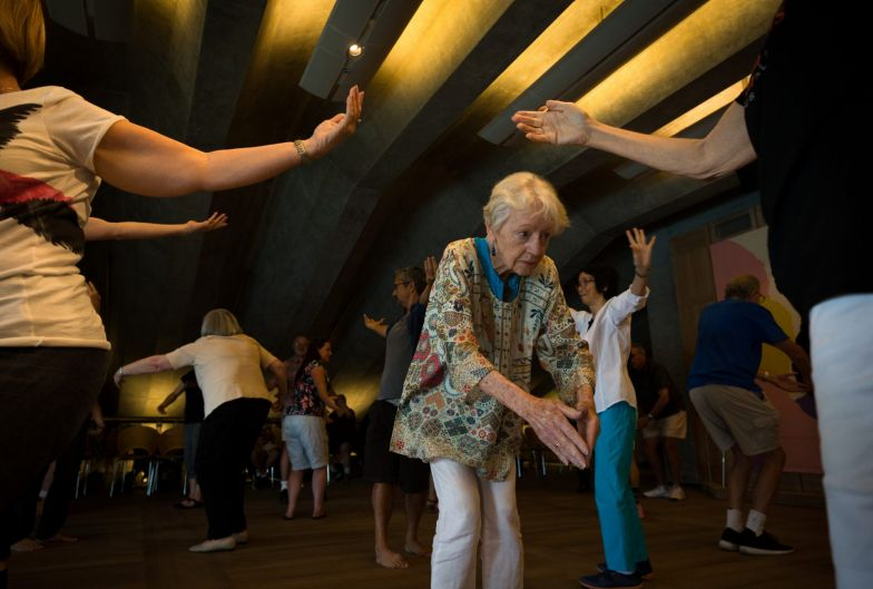 Judy Leach participates in a dance class for people who have Parkinsons Disease and their carers in the Utzon Room at ...