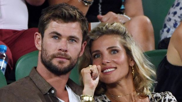 Winemakers of the future? Chris Hemsworth and wife Elsa Pataky.