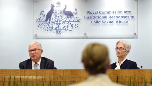 Justices Peter McClellan and Jennifer Coates at the final sitting of the royal commission.