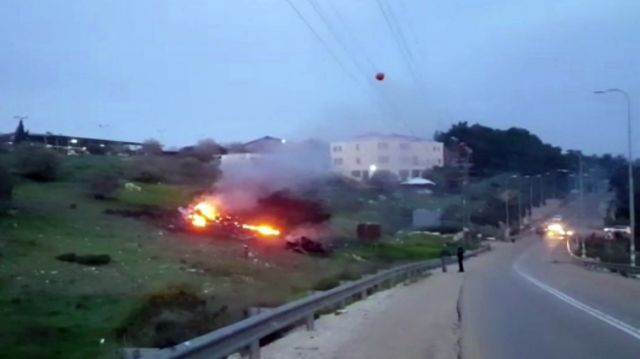 The Israeli military shot down an Iranian drone that infiltrated the country early Saturday before launching a ...