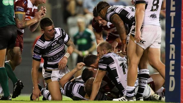 Tough travels: Hull are under an injury cloud after their clash with Wigan.