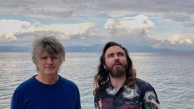 Neil Finn (left) and eldest son Liam Finn have brought along the rest of the family for a sold-out tour of Australia.