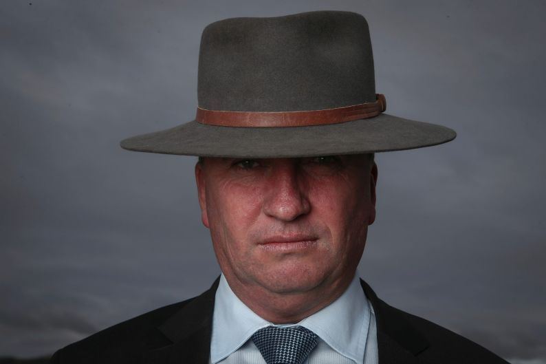 Deputy Prime Minister Barnaby Joyce poses for a portrait in the town of Dungowan in his New England electorate on March ...