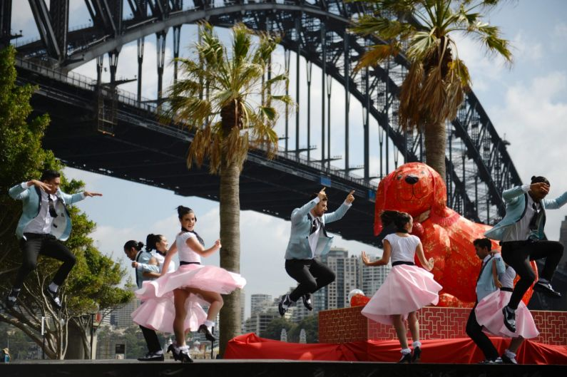 Sydney City Council had various dog themed entertainment at Dawes Point to promote the year of the dog in the Chinese ...