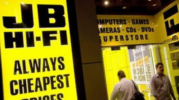 JB HI-FI shares were 1 per cent higher on Tuesday.