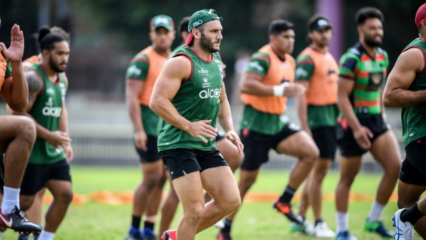 Self-belief: Farah at training on Monday.