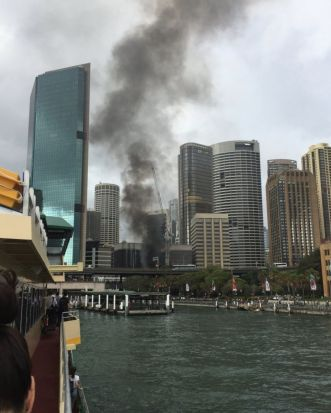 A fire has broken out at a building in Circular Quay.