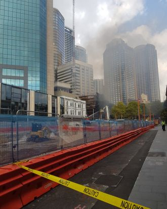 The Cahill Expressway was closed in both directions.