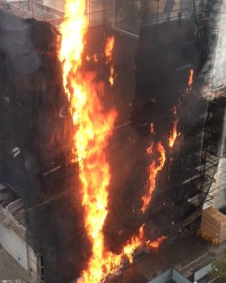 The cause of the blaze was not immediately clear.