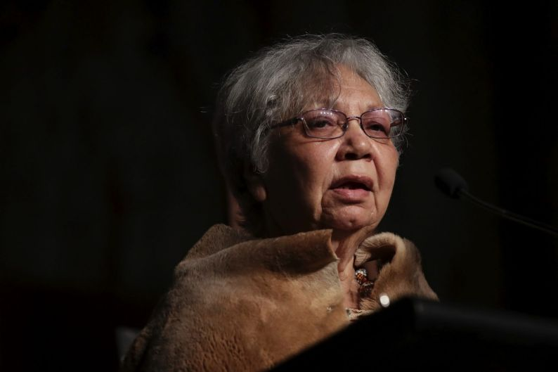 Aunty Matilda House during a Parliamentary breakfast for the 10th anniversary of the National Apology, at Parliament ...