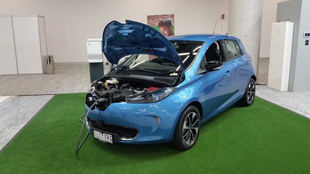 Renault electric vehicle at Schneider Electric Innovation Summit, in Sydney.