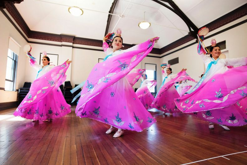 Ocean Dream Art Centre, dress rehearsal for Sydney Chinese New Year celebrations at Redfern Town Hall on February 10.