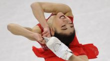 Mirai Nagasu of the United States performs in the ladies single free skating.