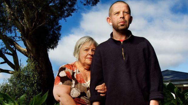 Jay Franklin and his mother Bertha in 2012 when he was seeking euthanasia.