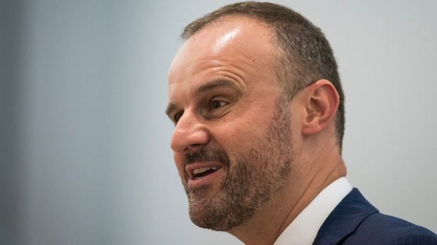 """Chief Minister Andrew Barr, whose comment that he apparently """"hates journalists"""" has been labelled a """"brain snap""""."""
