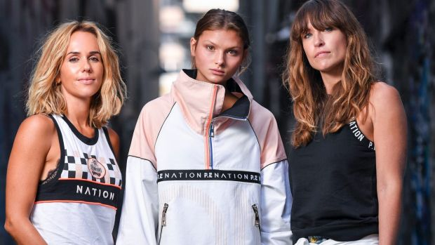 The National Designer Award 2018 finalists. Pip Edwards and Claire Tregoning with model Ella Grace. 15 February 2018. ...