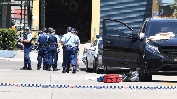 Paramedics performed CPR on the underworld figure as he was being rushed to St George Hospital.