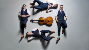 Looking sharp: Orava Quartet have a carefully cultivated image.