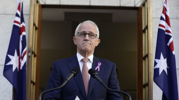 Prime Minister Malcolm Turnbull delivers a press statement on Thursday.