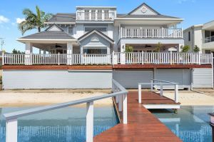 Houses on the Gold Coast have risen again. This waterfront property at 5 Midshipman Court, Paradise Waters, is listed ...