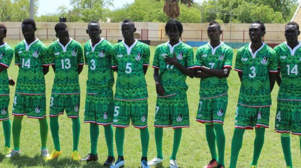 South Sudan's green shirts boast cultural symbols traditionally worn by local chiefs to symbolise their power.