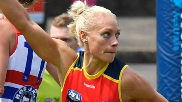 Leading the way: Crows captain Erin Phillips.