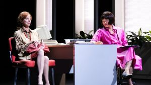 Heather Mitchell and Michelle Lim Davidson in Sydney Theatre Company's Production of <i>Top Girls</i>.